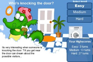Free HTML5 Memory Game - Whos knocking rhe door?
